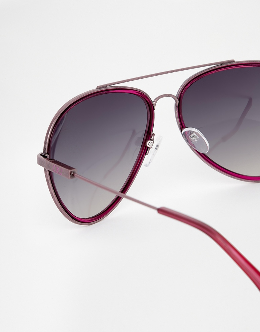 Ck Jeans Sunglasses  calvin klein jeans ck jeans aviator sunglasses in red for men lyst