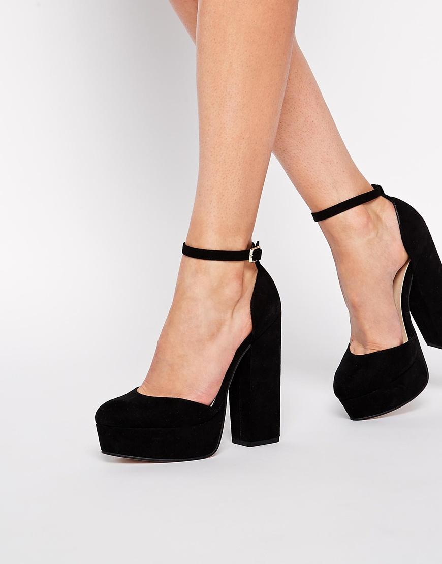 67a6d3aed95 Lyst - ASOS Pendulum Platform Shoes in Black