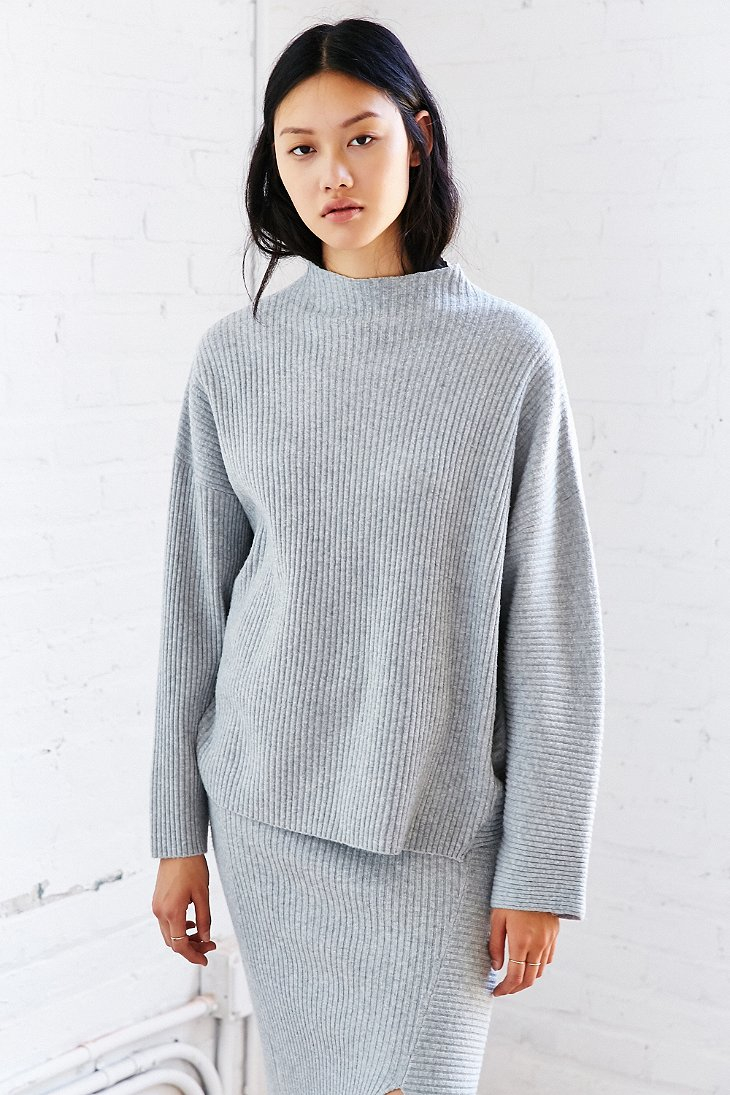 Cheap monday Rival Knit Sweater in Gray | Lyst