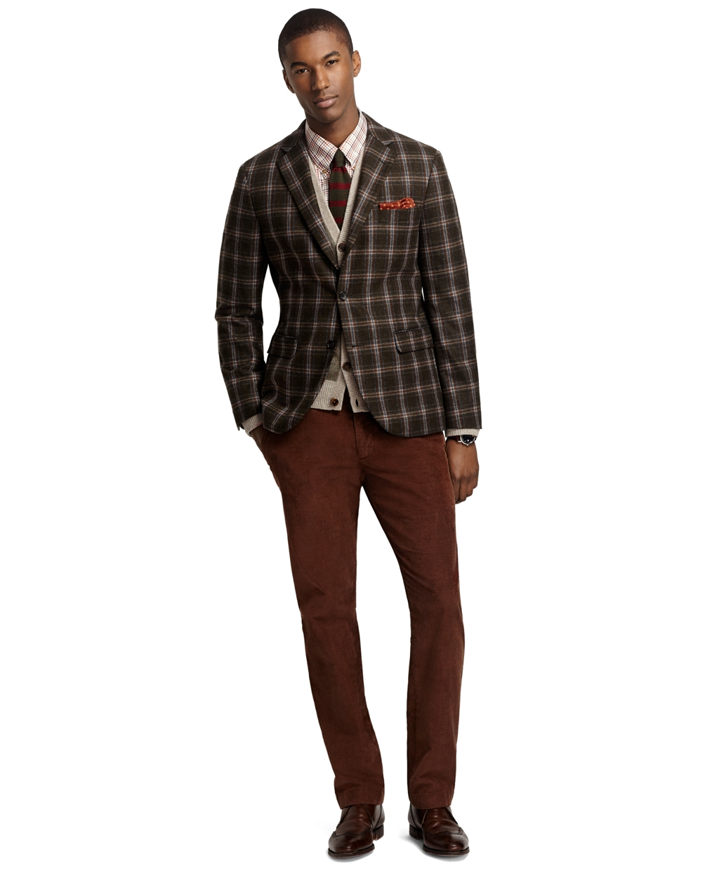 Brooks brothers Milano Fit Windowpane Sport Coat in Green for Men ...