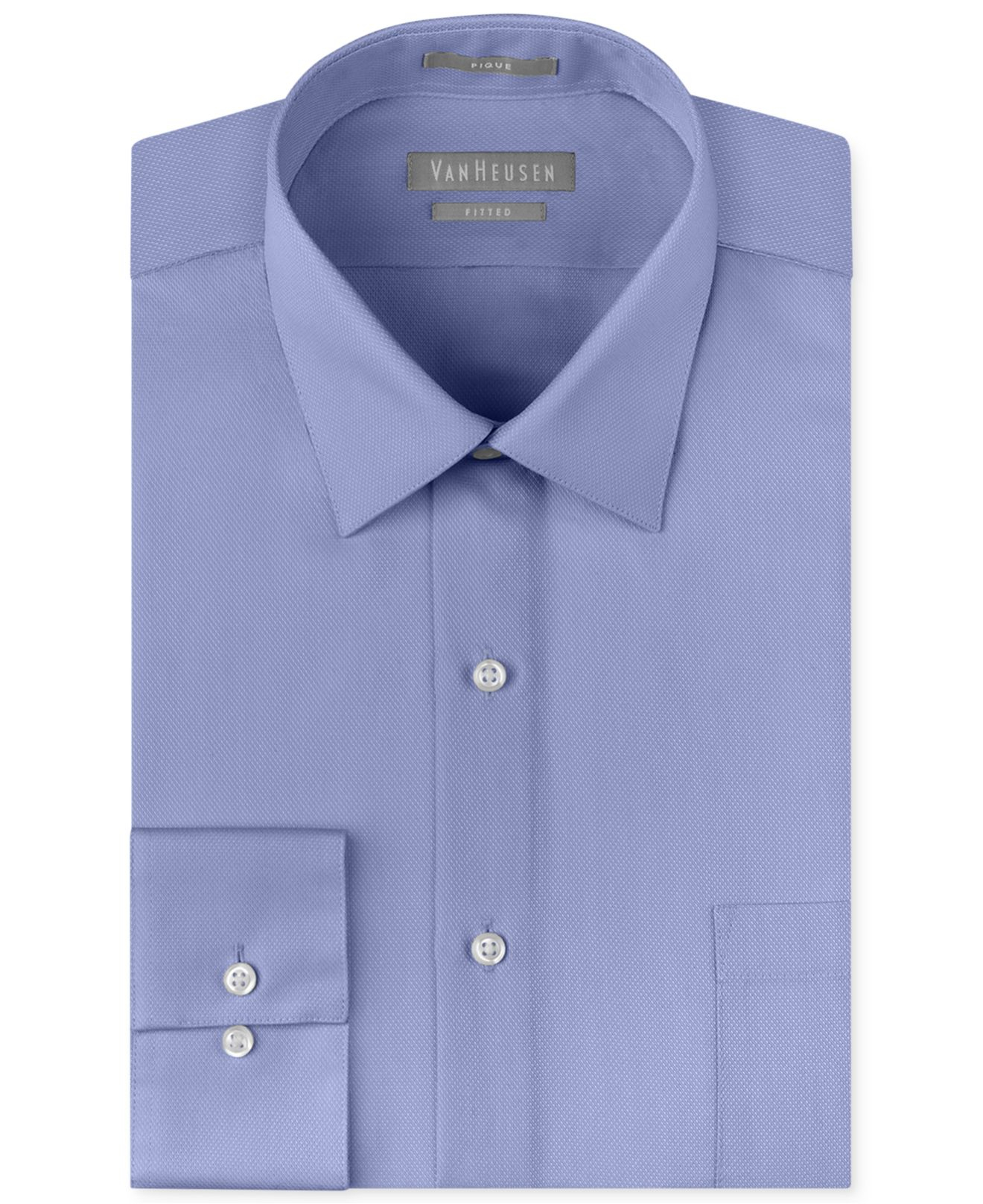 van heusen men 39 s extra slim fit non iron pique dress shirt