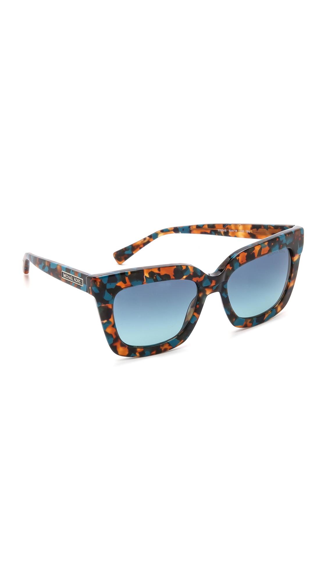 8ec1740fe0 Michael Kors Square Sunglasses - Burgundy Tortoise warm Brown in ...