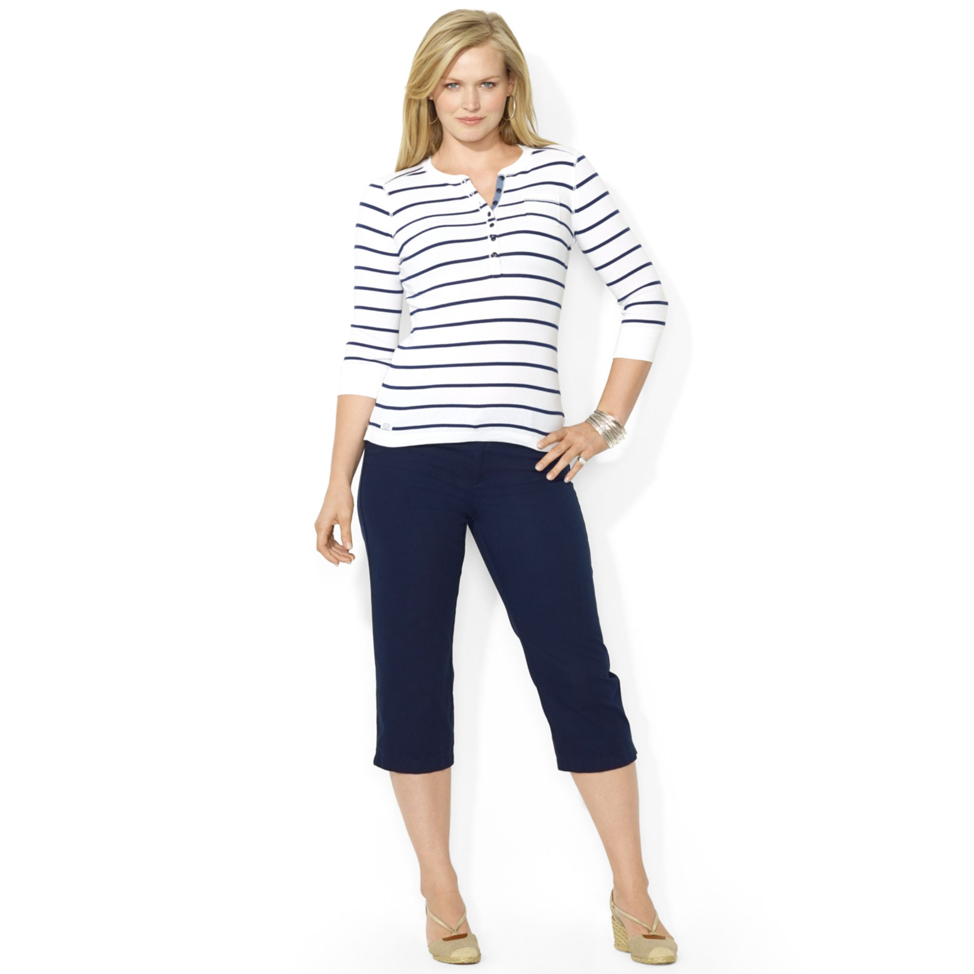 Lauren by ralph lauren Lauren Jeans Co Plus Size Belted Capri ...