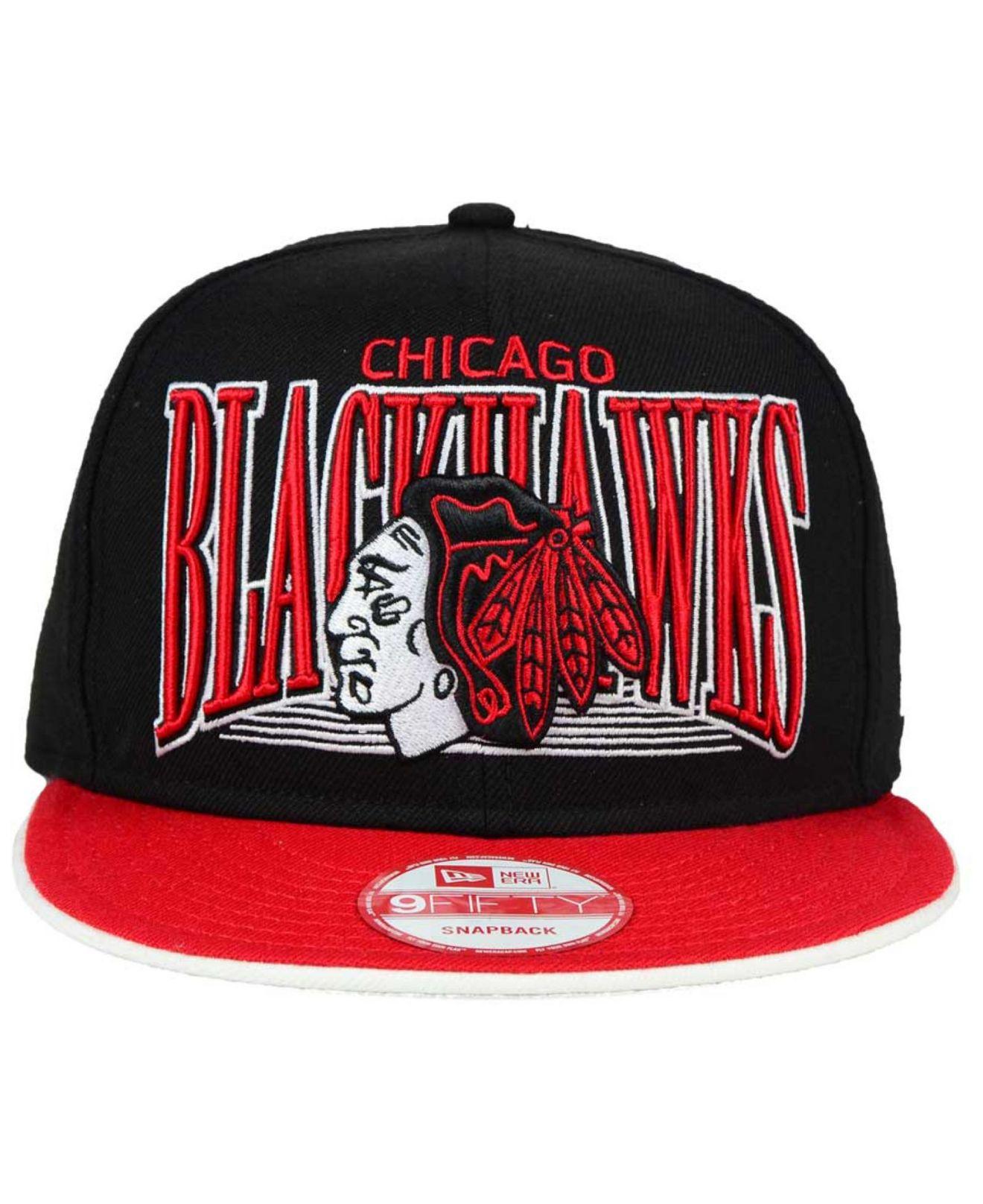 Lyst - KTZ Chicago Blackhawks Ice Block 9fifty Snapback Cap in Red ... 24369967fff5