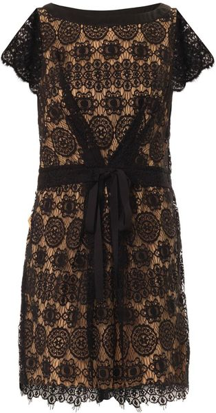 Collette By Collette Dinnigan Venice Lace Dress in Black ...