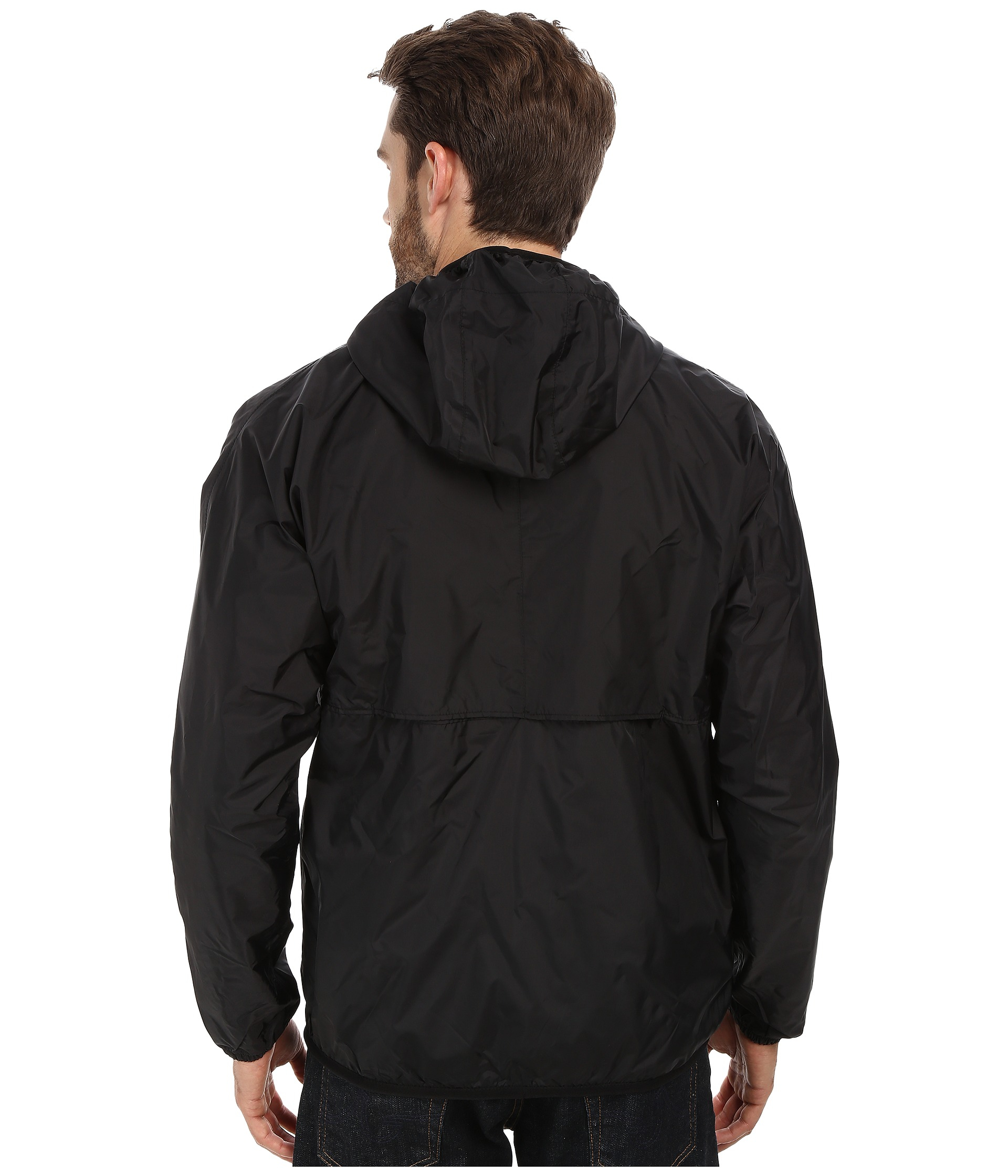 k way claude klassic waterproof jacket w hood in black for men lyst. Black Bedroom Furniture Sets. Home Design Ideas
