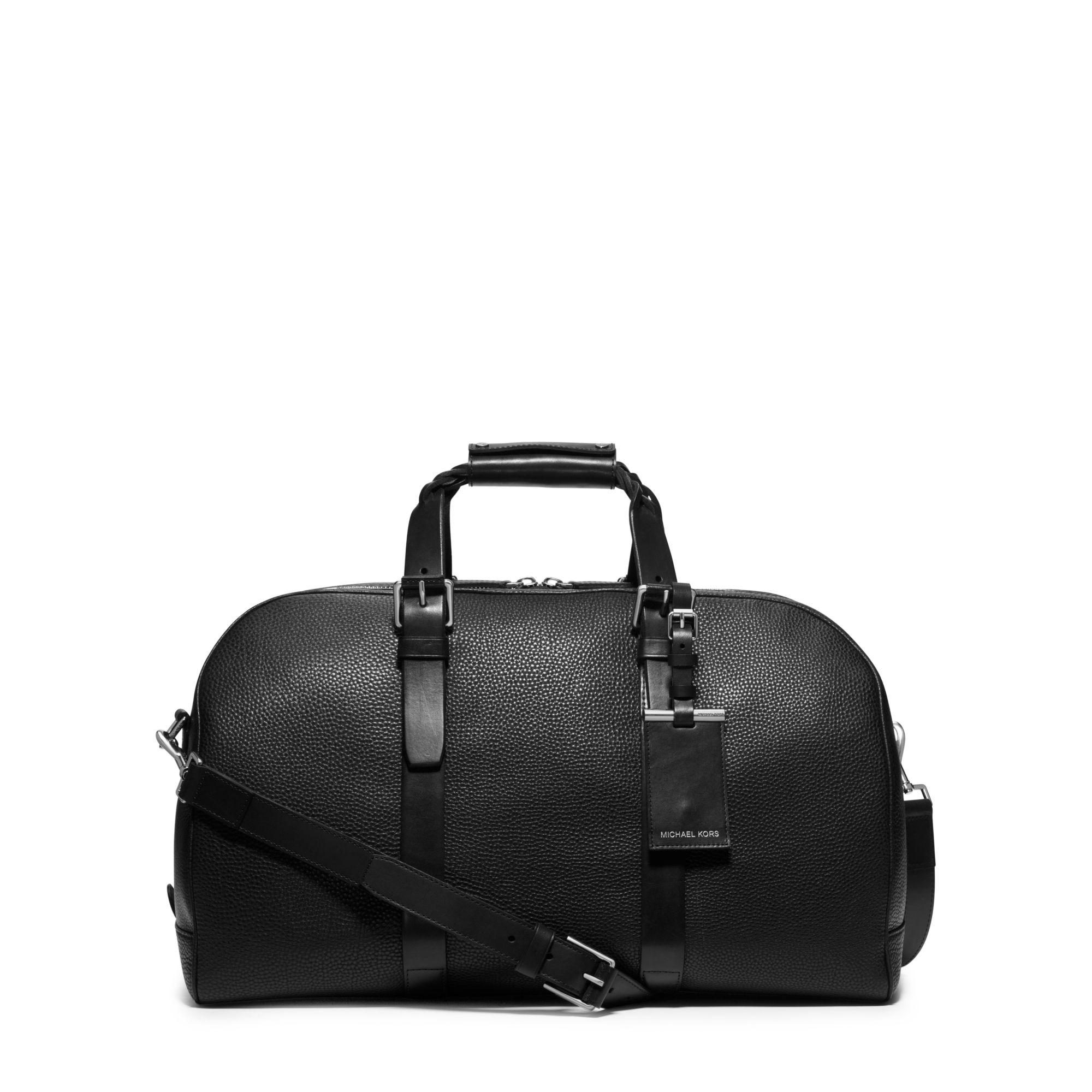 65285d063ccf Lyst - Michael Kors Bennett Large Pebbled-leather Duffel in Black ...