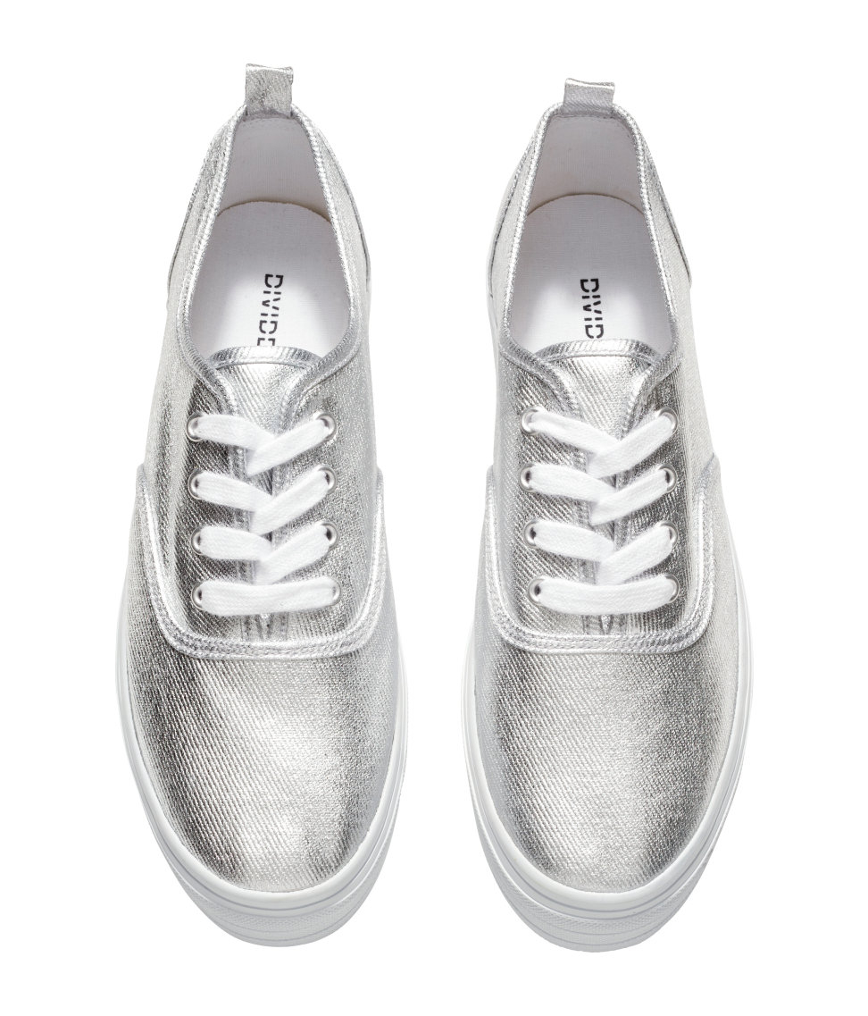 Lyst H Amp M Platform Sneakers In Metallic