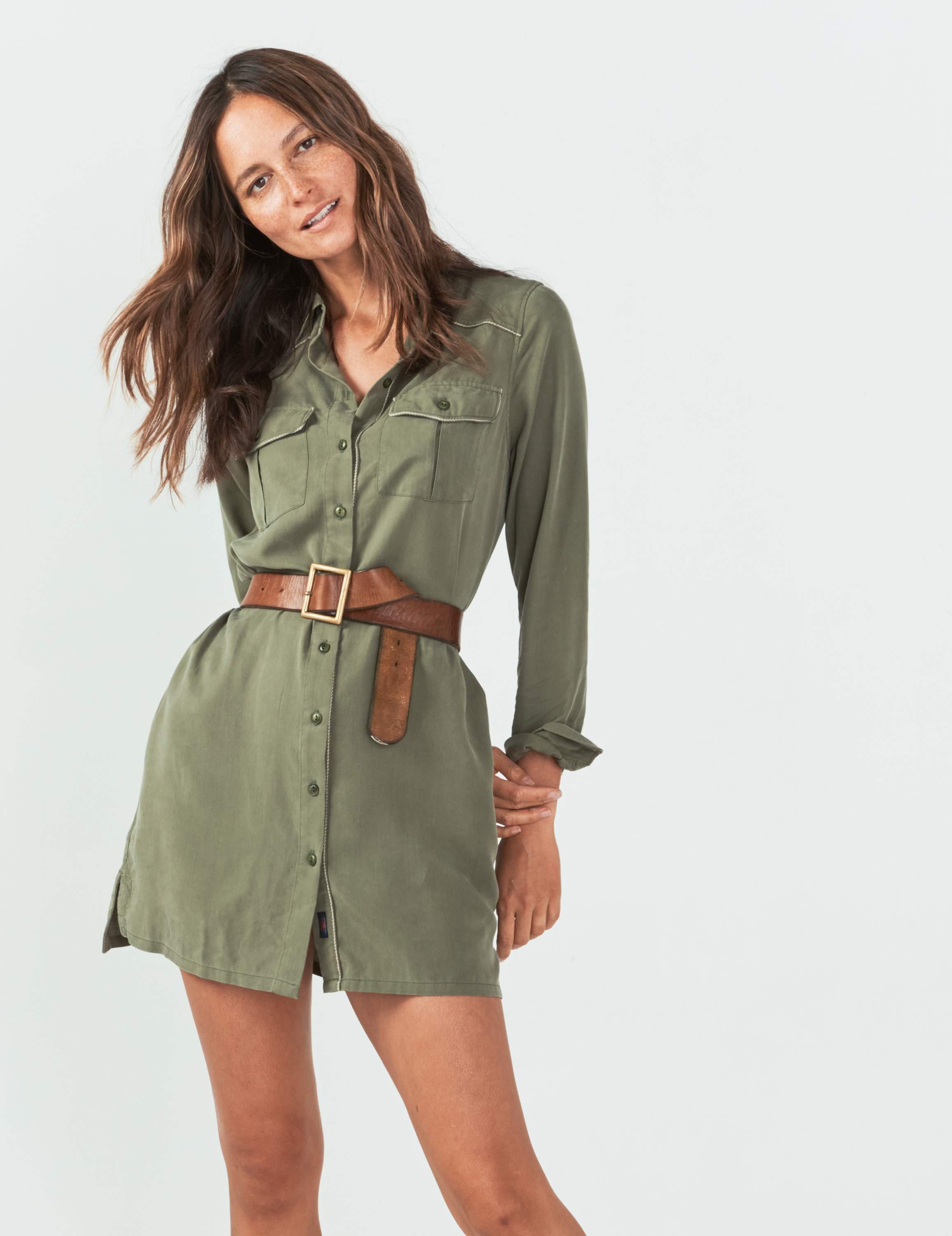 77313c94f7 Faherty Brand Desert Ridge Shirtdress in Green - Save 43.693693693693696% -  Lyst