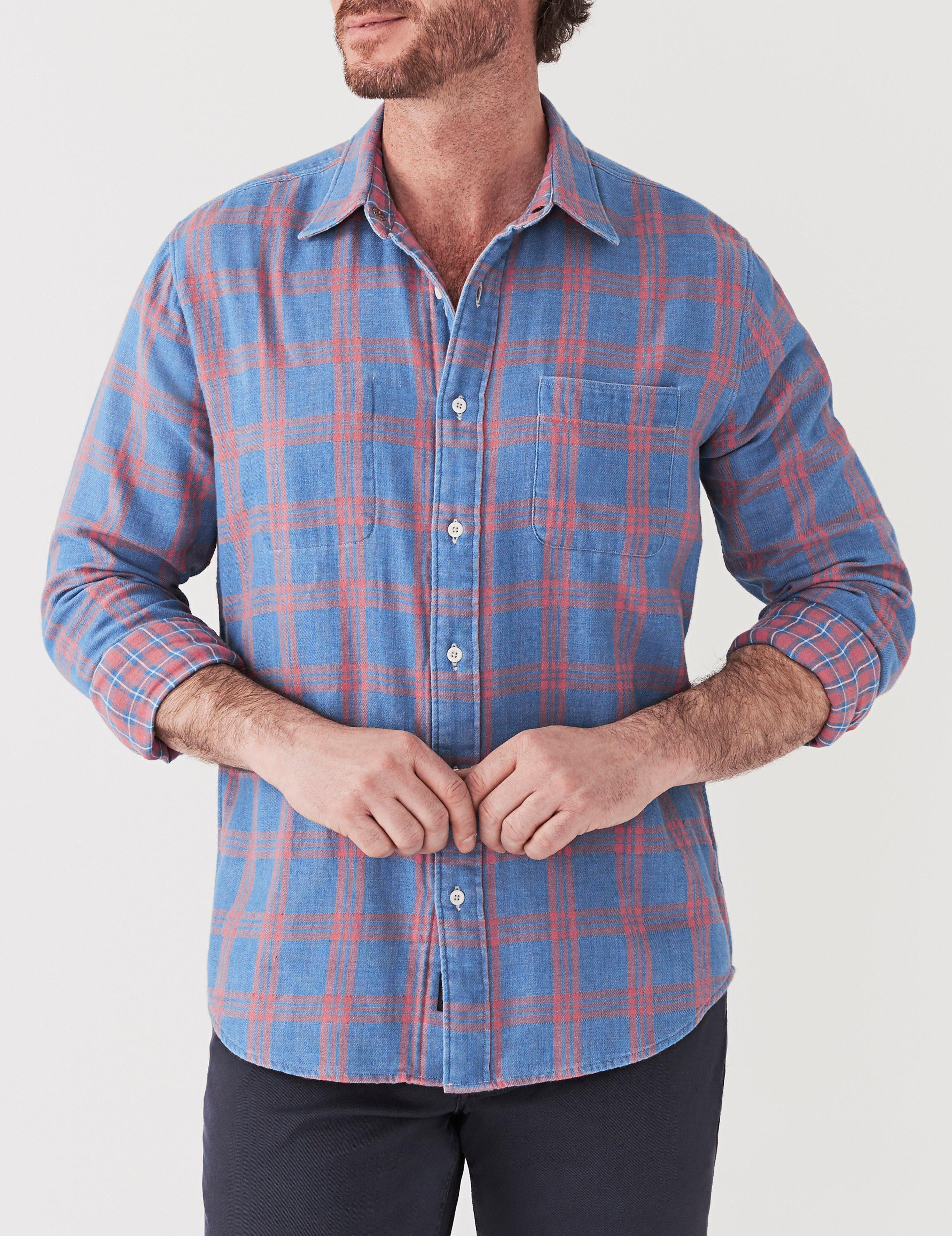 1f6434decf Faherty Brand Belmar Reversible Shirt in Blue for Men - Lyst