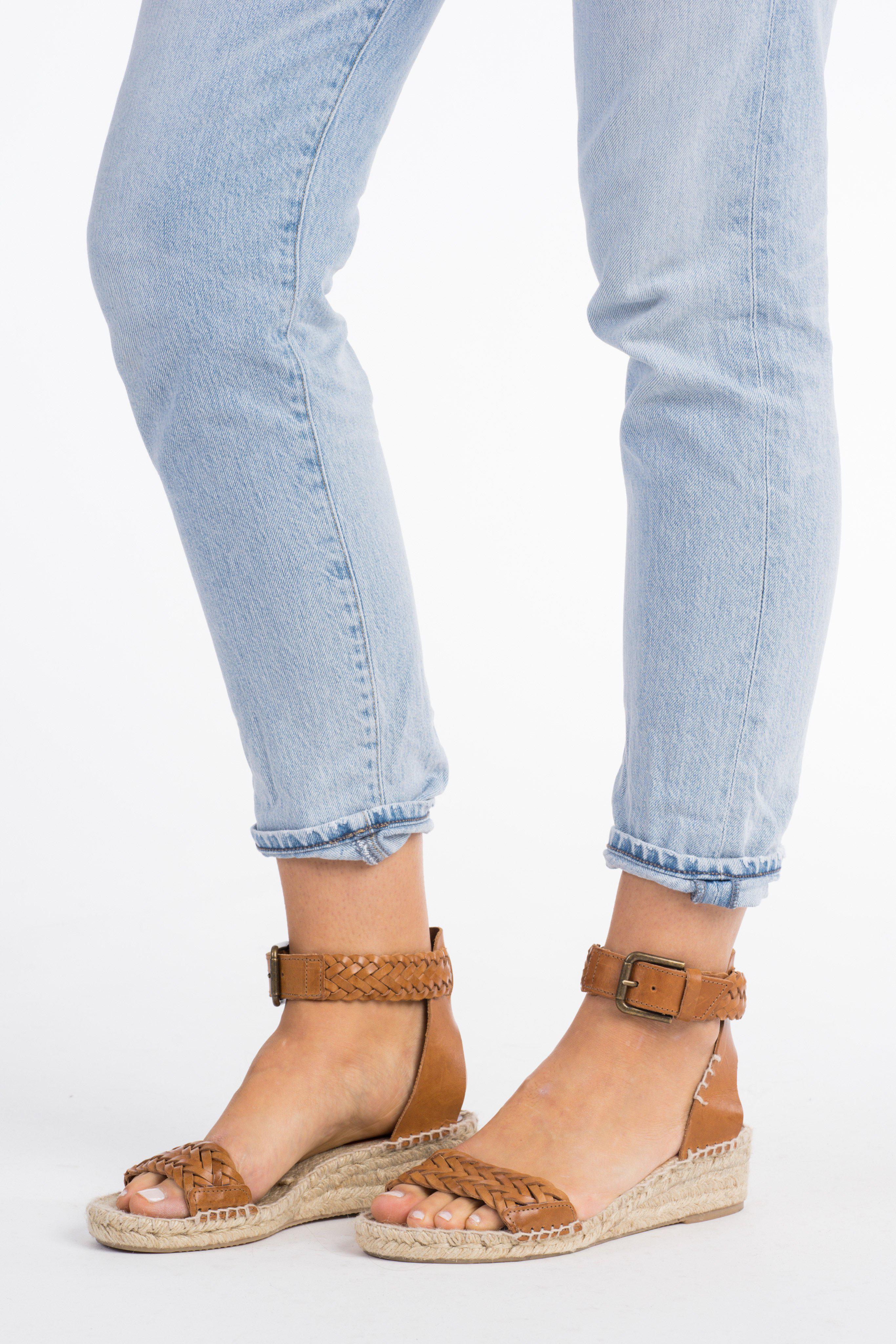 0abd1df51b7 Lyst - Soludos Soludos Woven Demi Wedge Sandal in Blue