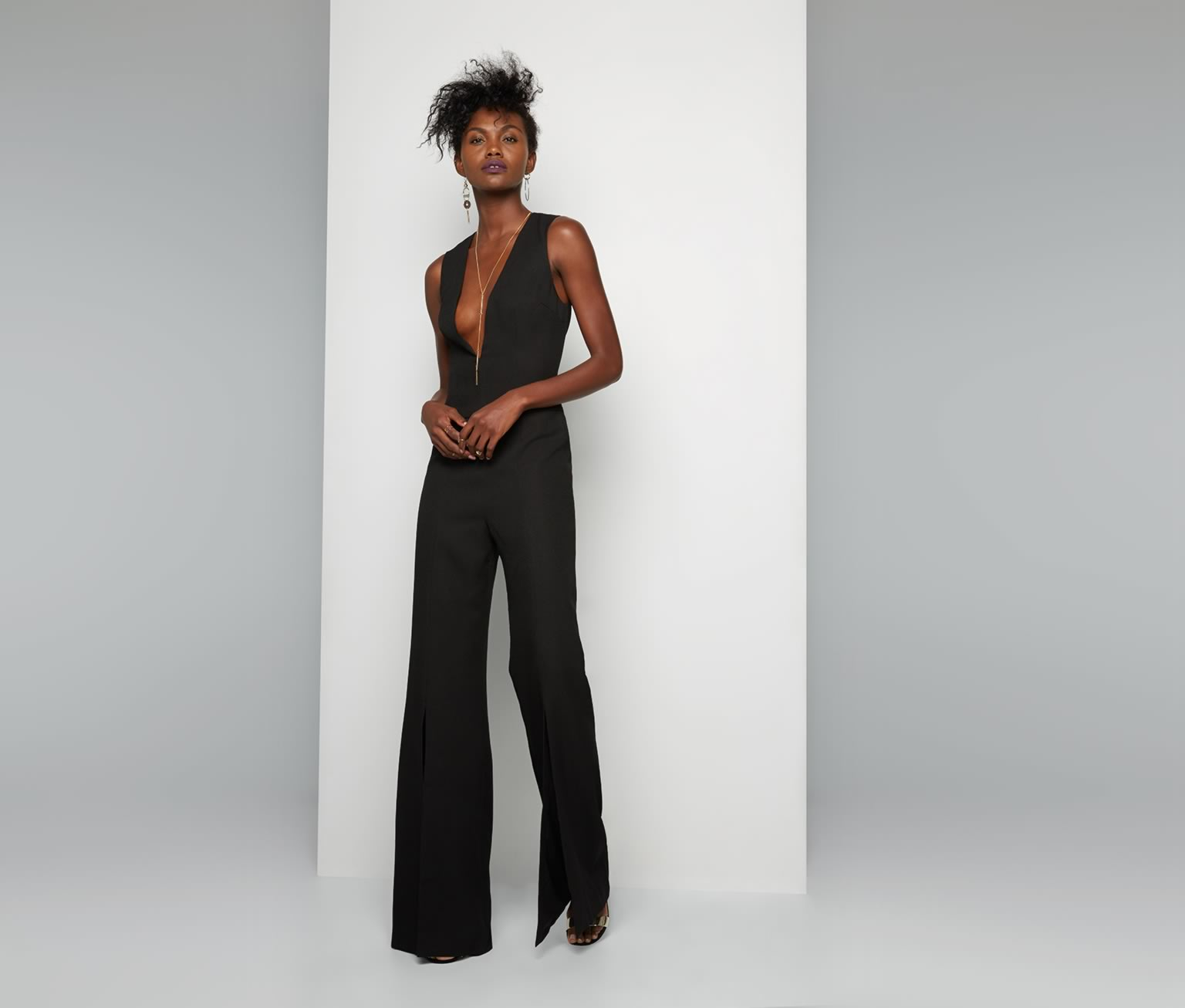 Lyst Fame Partners Ekera Jumpsuit In Black