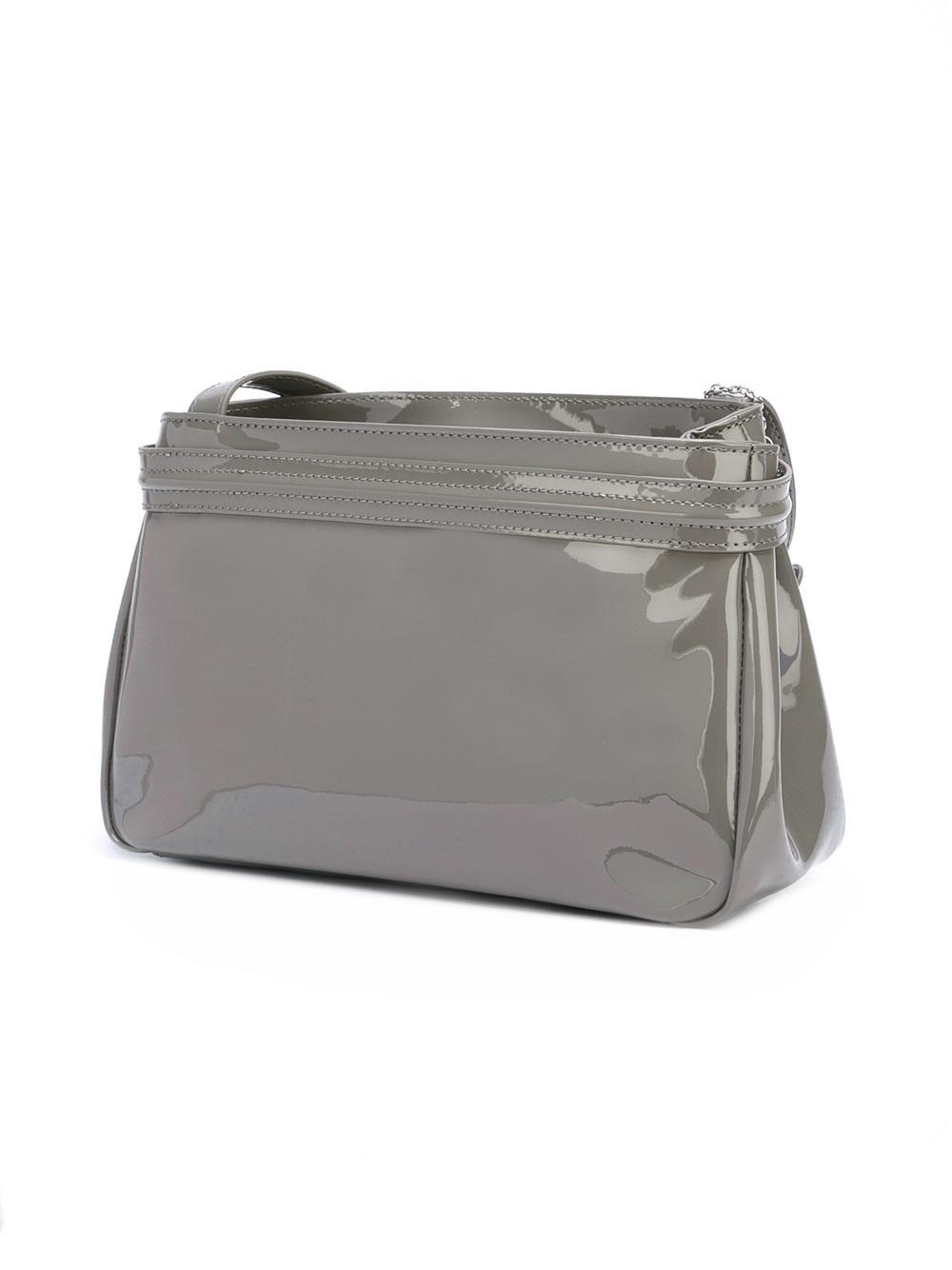 Lyst - Armani Jeans Logo Embossed Shoulder Bag in Gray c6d5fdd5b0b5e
