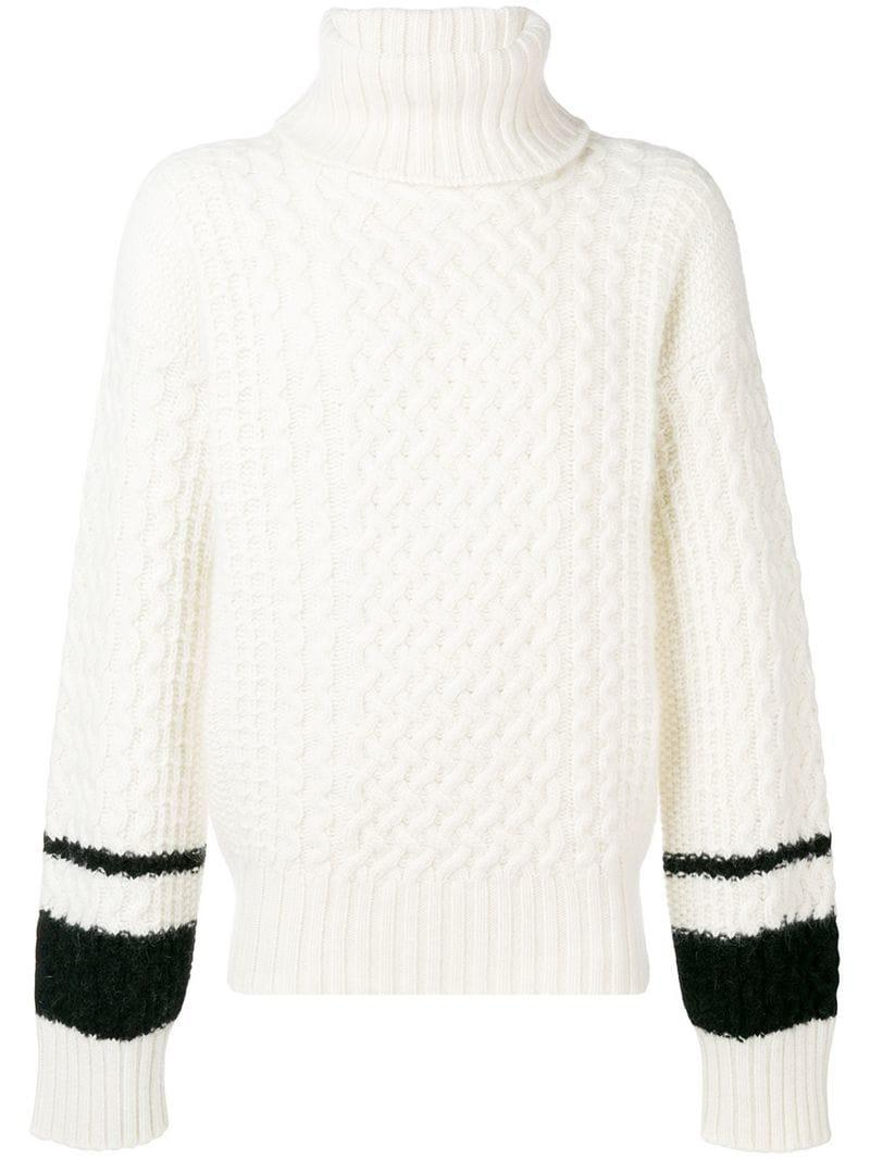 Haider Ackermann Cable-knit Jumper in White for Men - Lyst