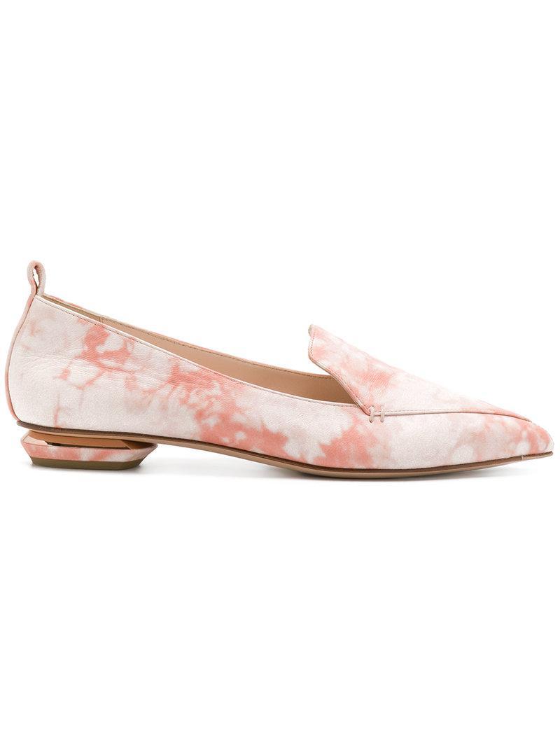 pearl embellished loafers - Pink & Purple Nicholas Kirkwood 6l1PE
