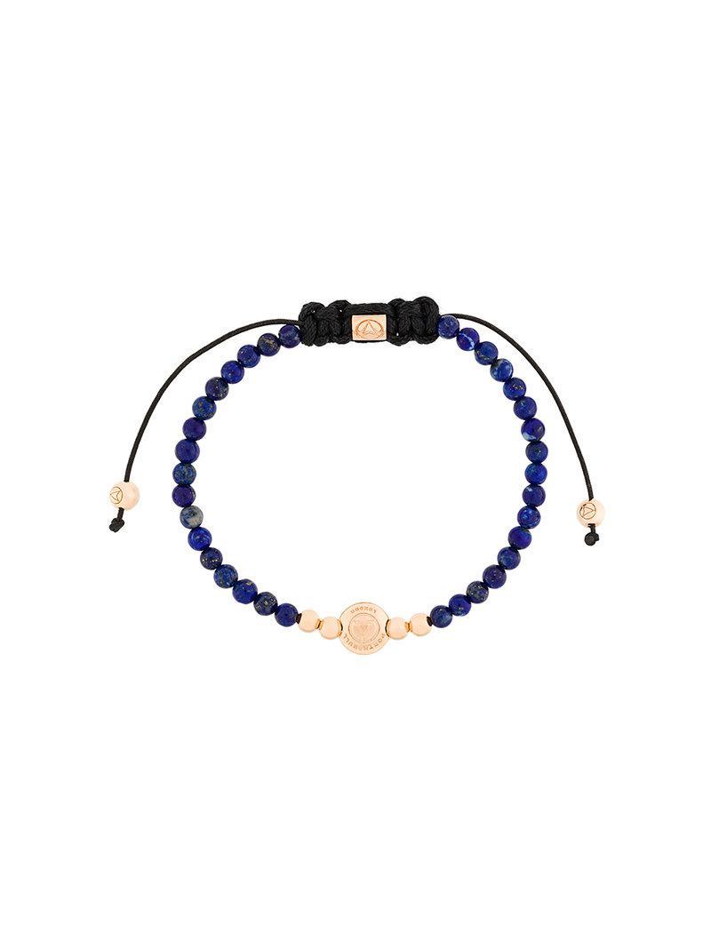 Northskull adjustable stone bracelet - Blue XNTkaF