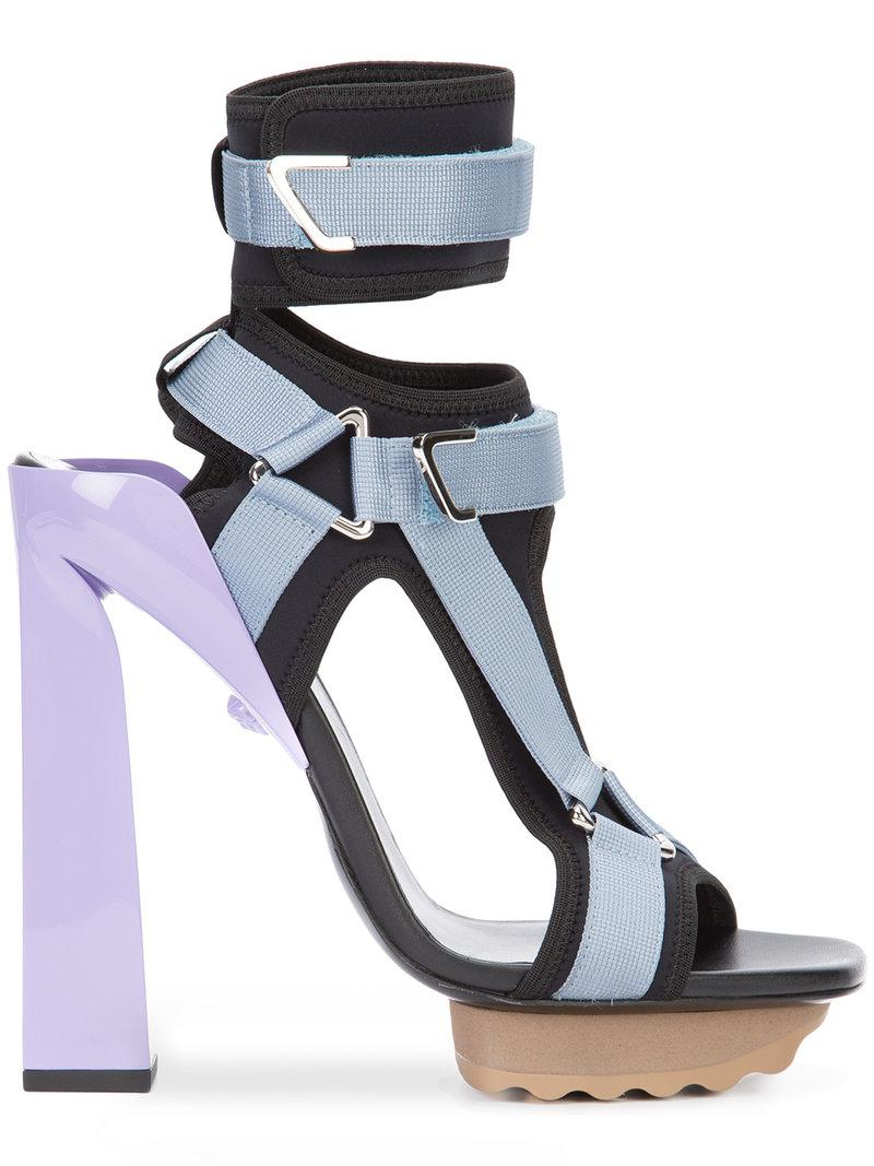 2bc0327da4b Lyst - Versace T-bar Platform Sandals in Black