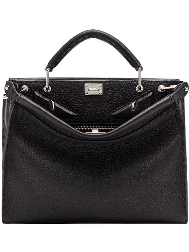 3fd7704e027b Fendi Mini Peekaboo Fit Bag in Black for Men - Lyst