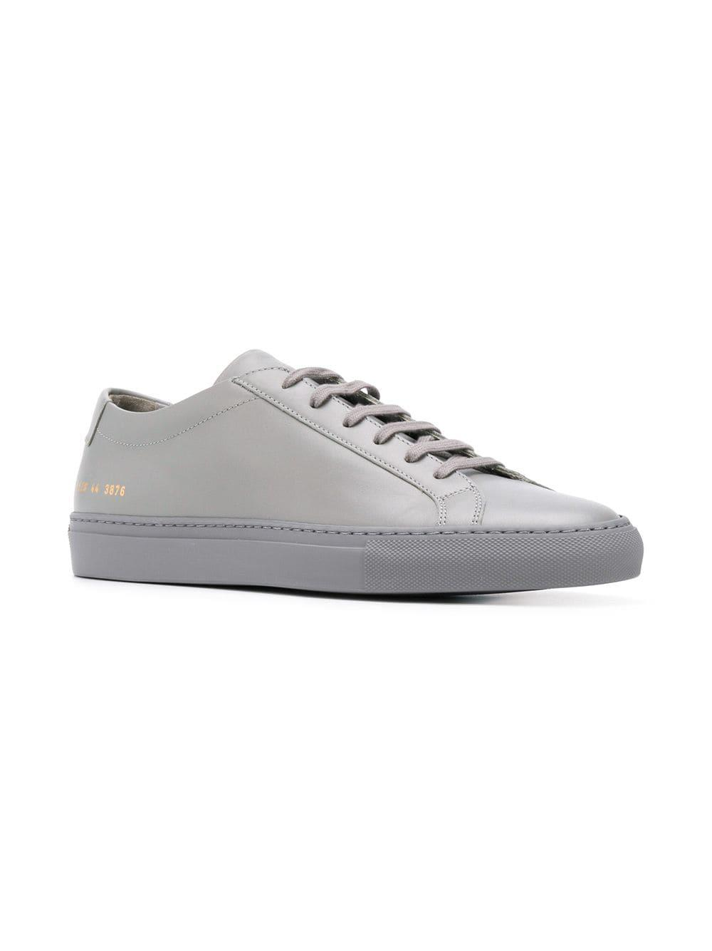 49a7efbc2b8f5 Common Projects - Gray Achilles Low Sneakers for Men - Lyst. View fullscreen