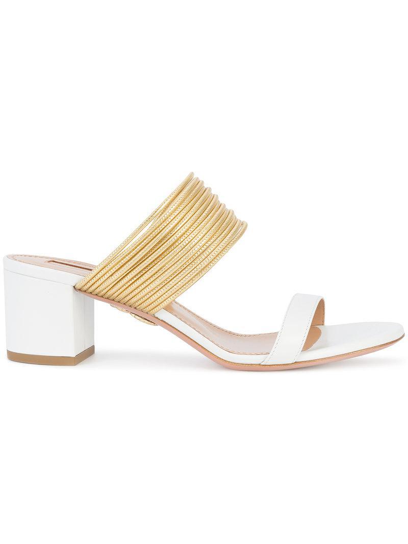 Aquazzura Rendez Vous Sandals - Metallic 0P3votlNr