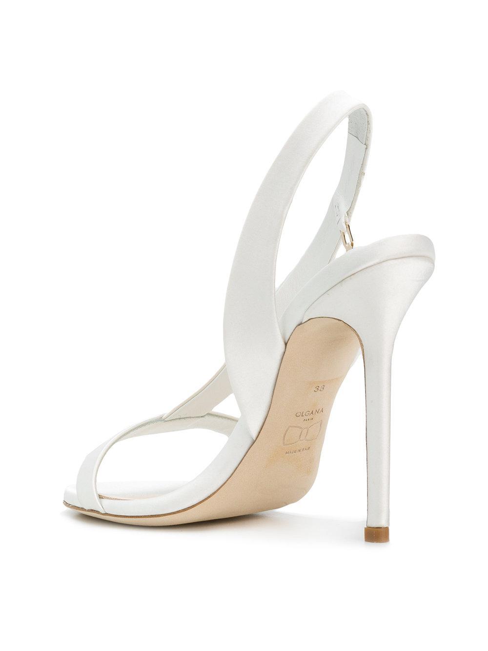 Amazone open toe sandals - White Olgana Paris wTaXD