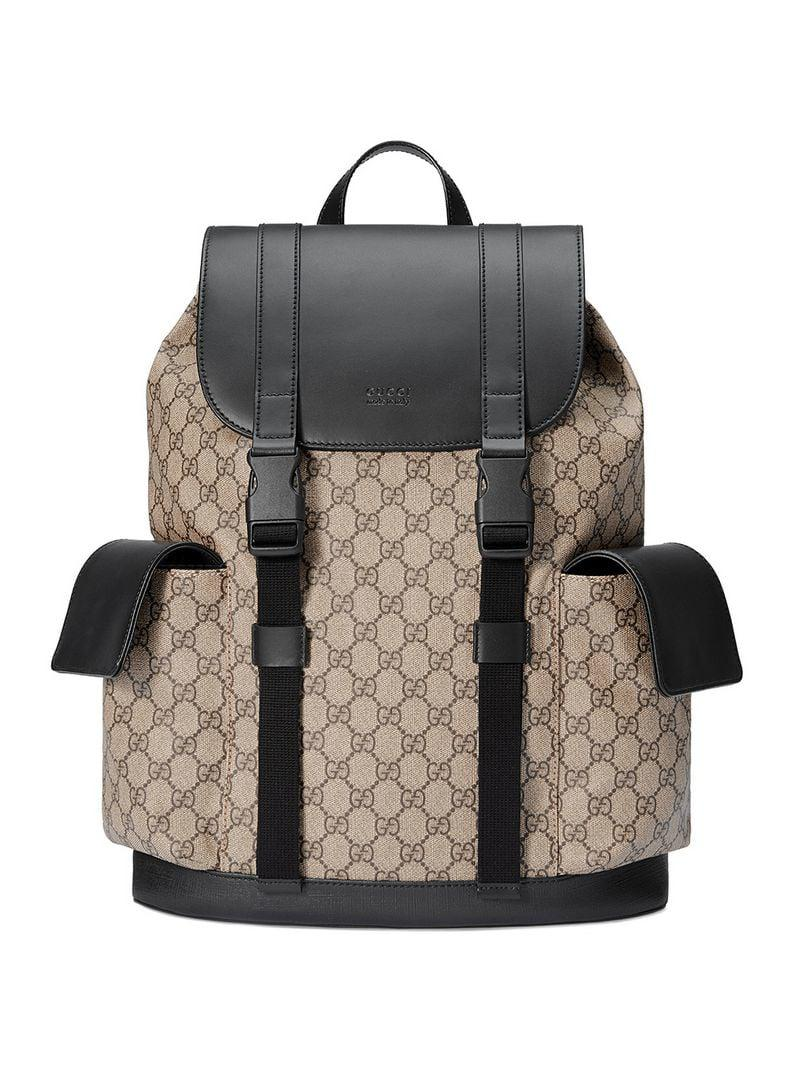 52e907c4f9a068 Gucci Soft GG Supreme Backpack in Brown for Men - Lyst