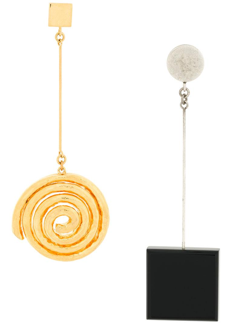 Jacquemus Le Carre Earrings in Black Brass and Zamac 7g9bZD