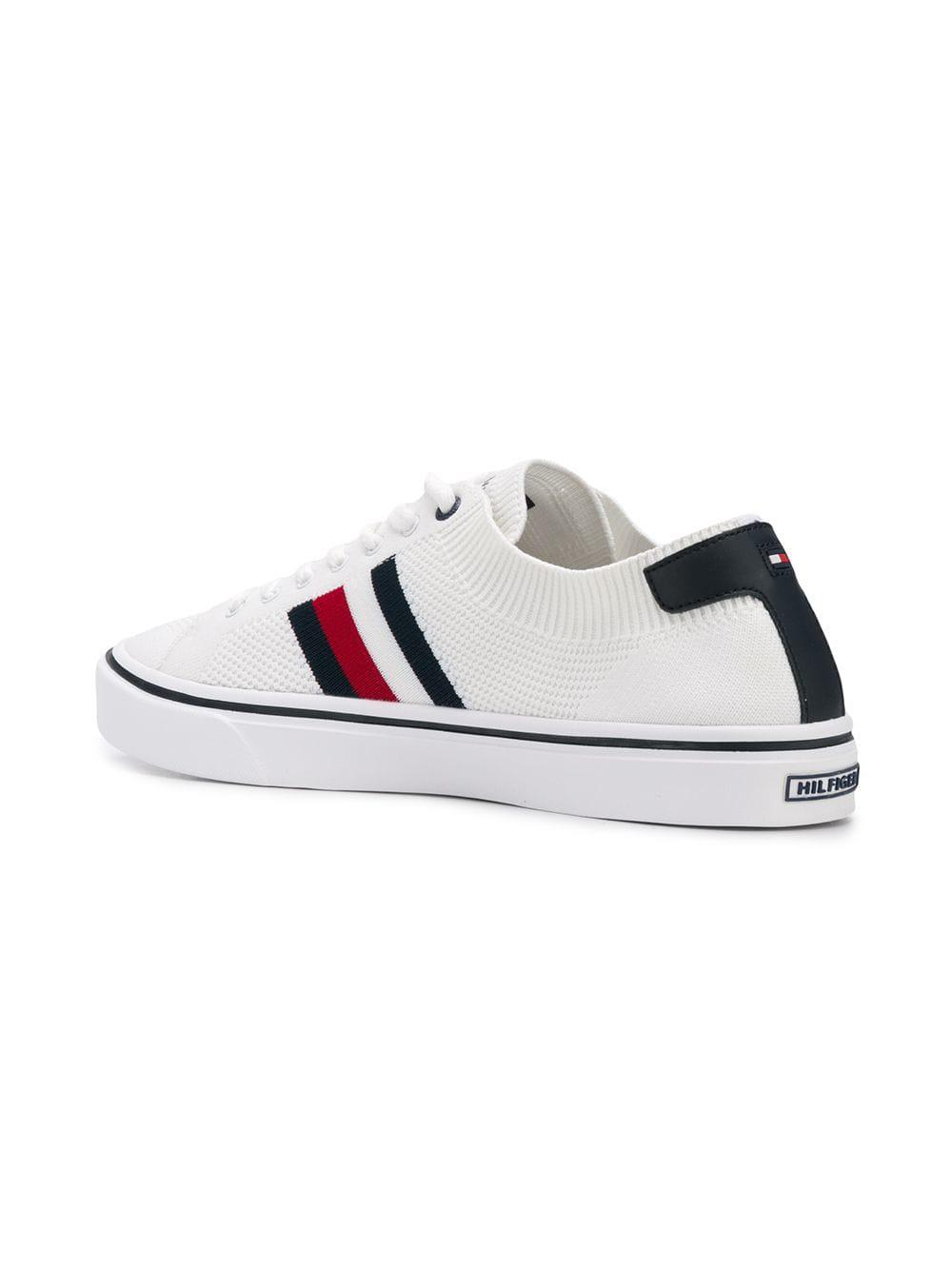 Tommy Hilfiger - White Knit Low-top Sneakers for Men - Lyst. View fullscreen 5c8fdb57add