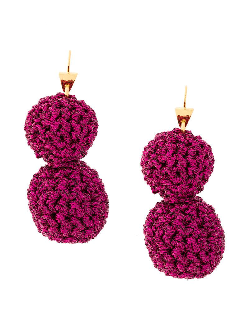 Lucy Folk Rock Formation Gold-plated And Lurex Earrings NuaeEIEFy