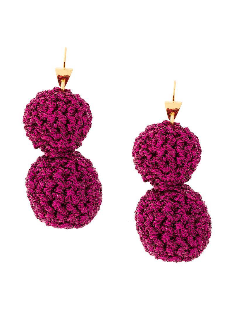 Lucy Folk Rock Formation earrings - Pink & Purple uPJxhUFbn