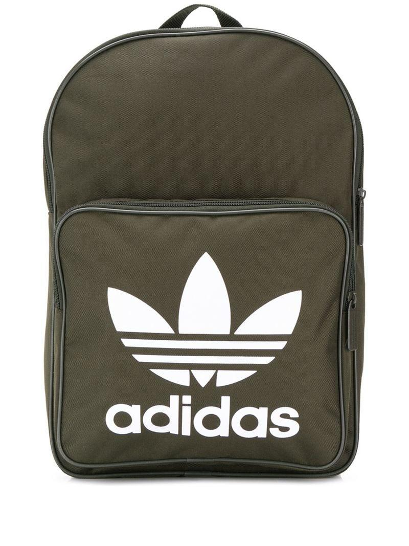 Adidas - Green Classic Trefoil Backpack for Men - Lyst. View fullscreen 82a4b7d85b2be