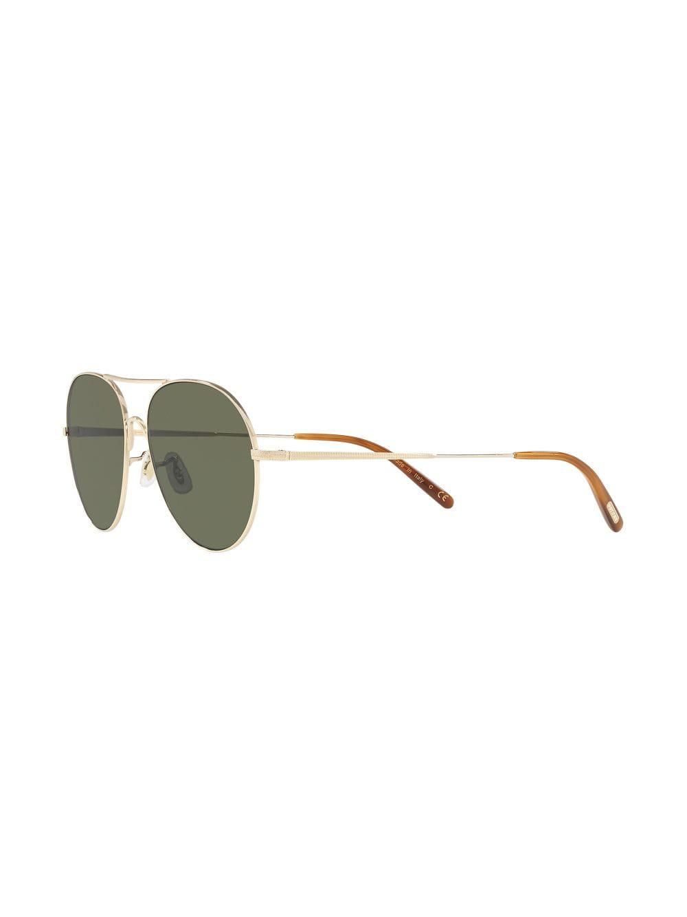 06636c51a42 Oliver Peoples Rockmore Sunglasses in Metallic for Men - Lyst