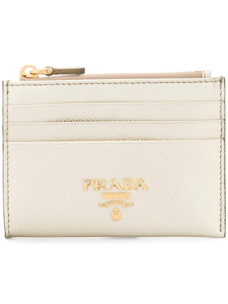 top zipped wallet - Metallic Prada jqs3VFOwE