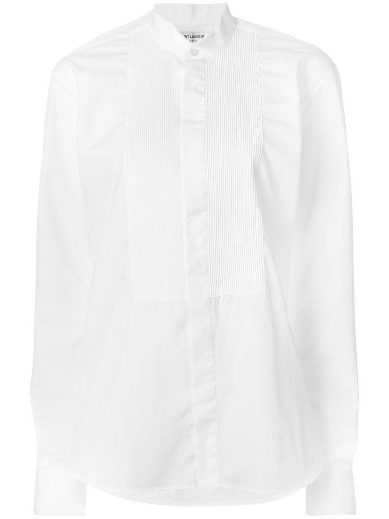 classic bib shirt - White Saint Laurent Clearance Huge Surprise Shop Offer For Sale cyZi5D