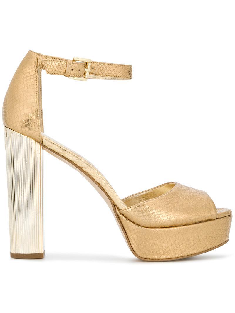 b0ef4648f93f MICHAEL Michael Kors Paloma Platform Sandals in Metallic - Lyst