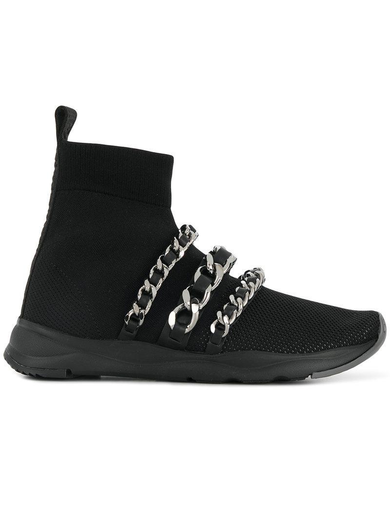 668650bff0e Lyst - Zapatillas estilo calcetín Balmain de color Negro