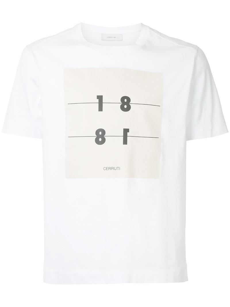9849670a6a Cerruti 1881 Logo Print T-shirt in White for Men - Lyst