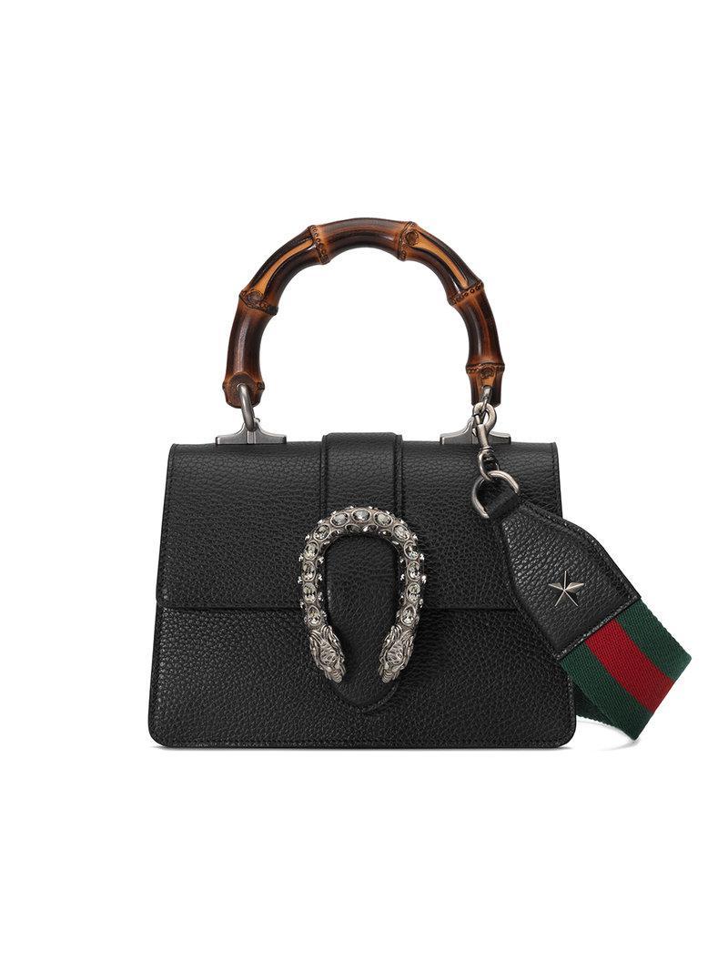 4b3fe6152ea Gucci Dionysus Mini Top Handle Bag in Black - Save 1% - Lyst