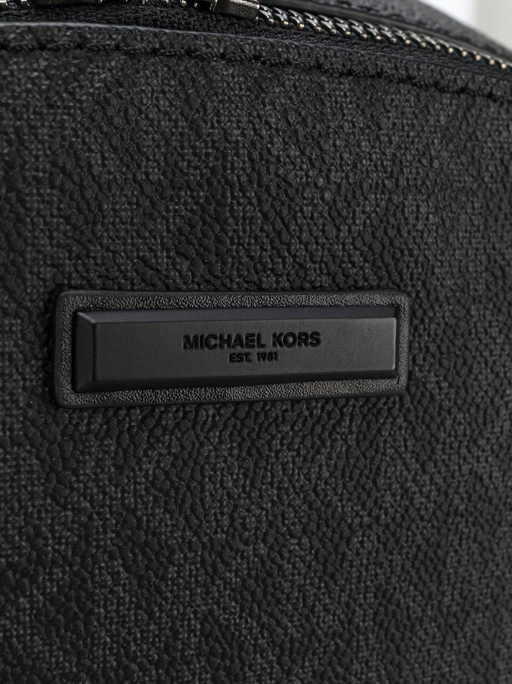 ca255415e009 Michael Kors - Black Streamlined Mk Logo Backpack for Men - Lyst. View  fullscreen