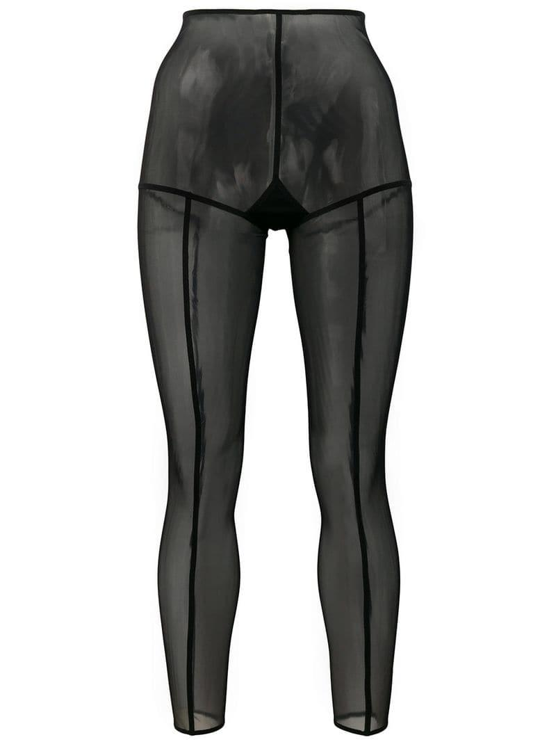fc72ca1bf7b66 Lyst - Ann Demeulemeester Footless Solid Stripe Tights in Black