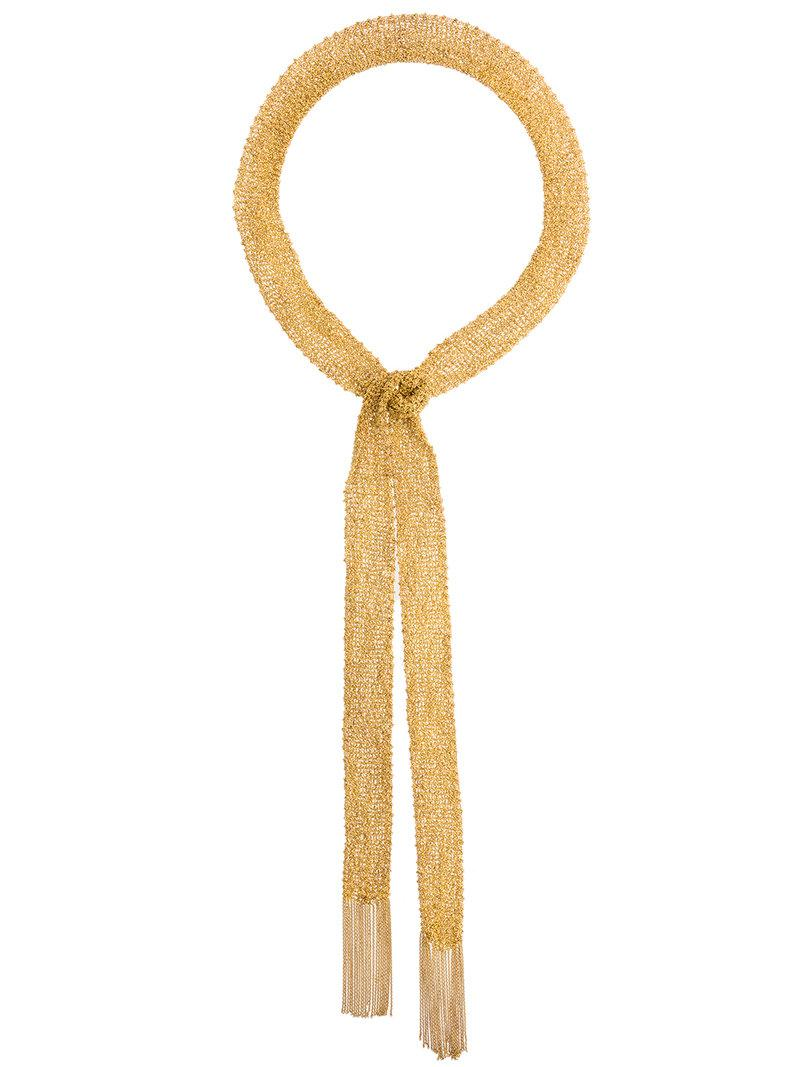 Christian Koban Woven scarf necklace - Metallic nVetK4oL