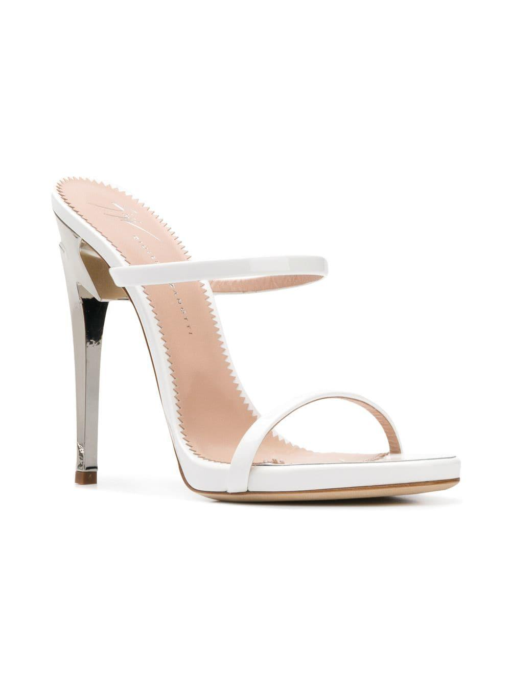 f9706c2734ef Giuseppe Zanotti - White G-heeled 120 Sandals - Lyst. View fullscreen