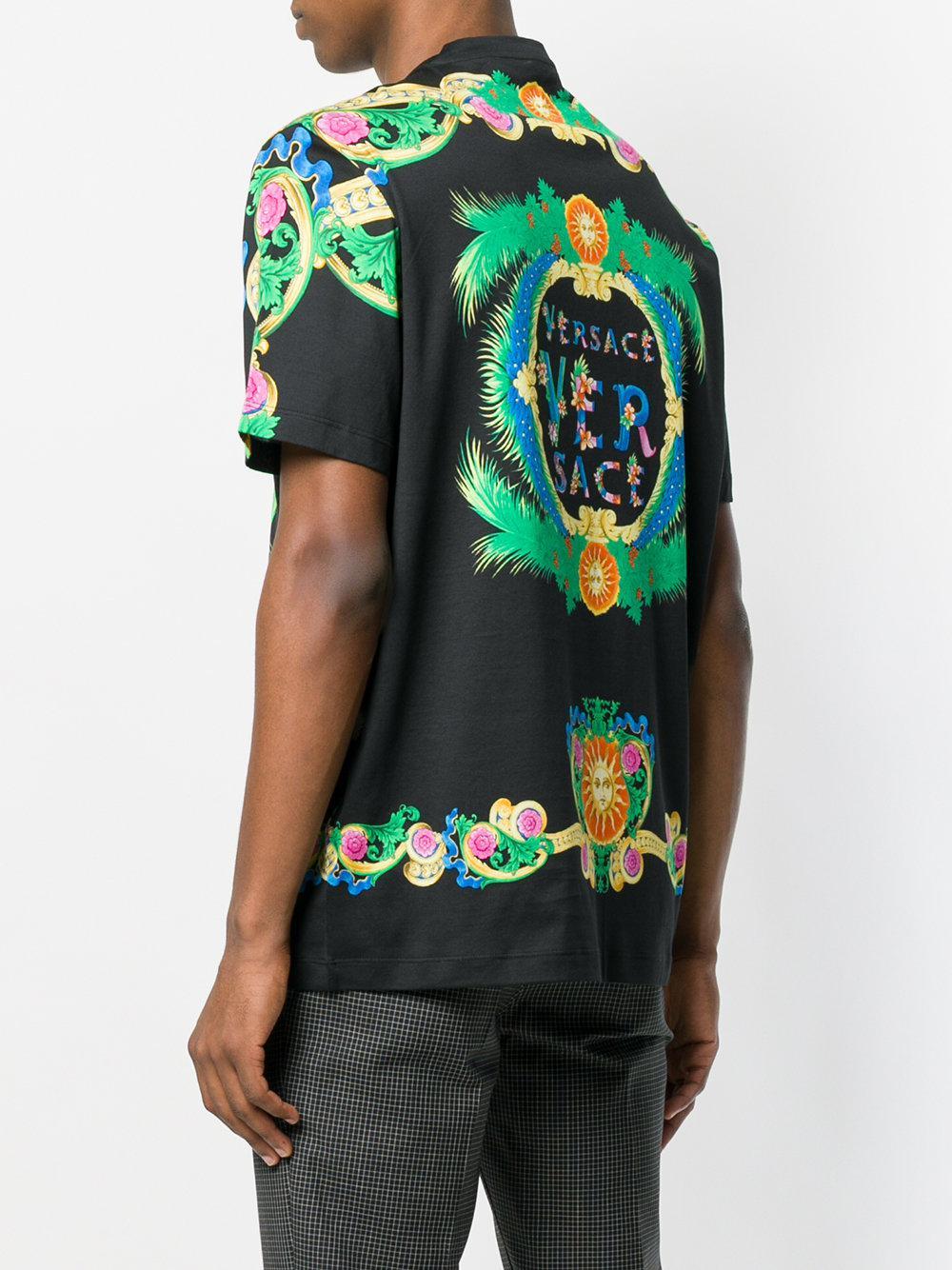 fc114d71 Versace Printed T-shirt for Men - Lyst