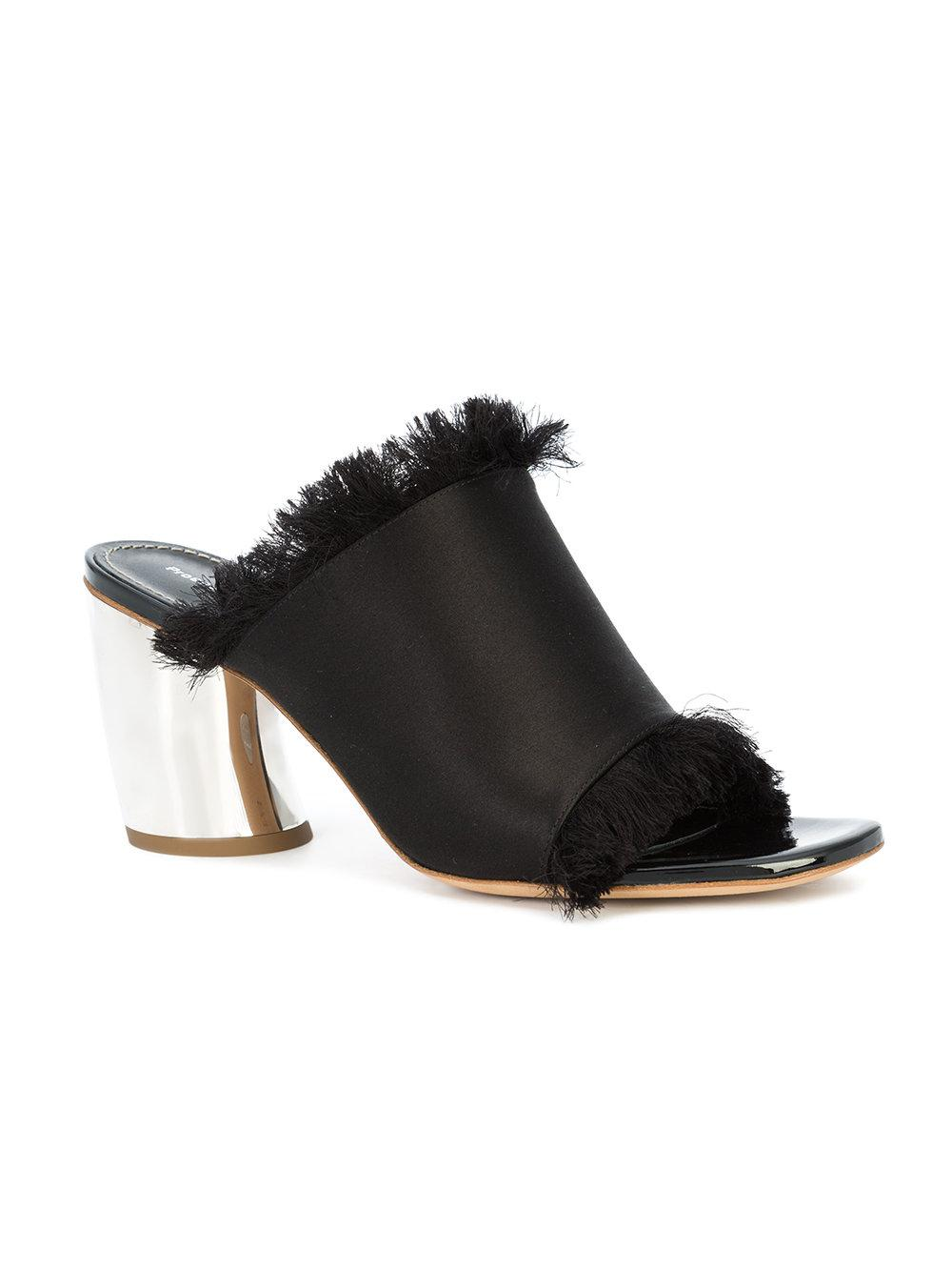 outlet official Proenza Schouler Black Suede Curved Heel Mules free shipping how much official site sale online wide range of discount how much yXjqF1d