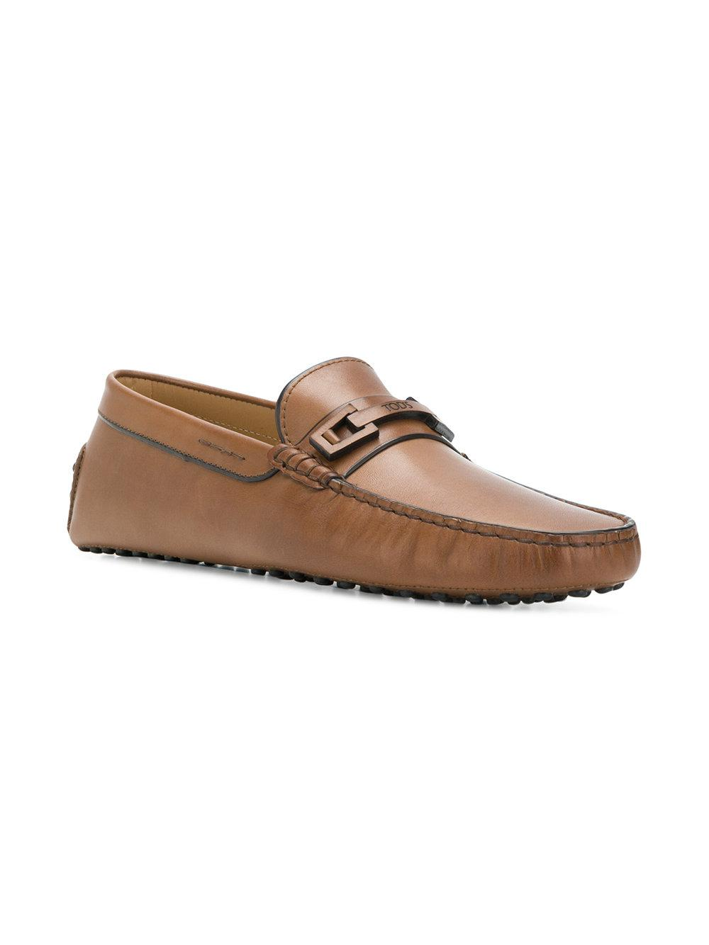 4015638af75 Tod s Flat Sole Classic Loafers in Brown for Men - Lyst