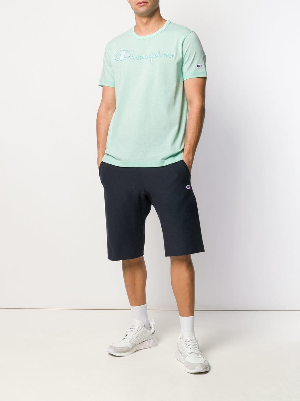 aa0ccd14 Champion Logo T-shirt in Green for Men - Lyst