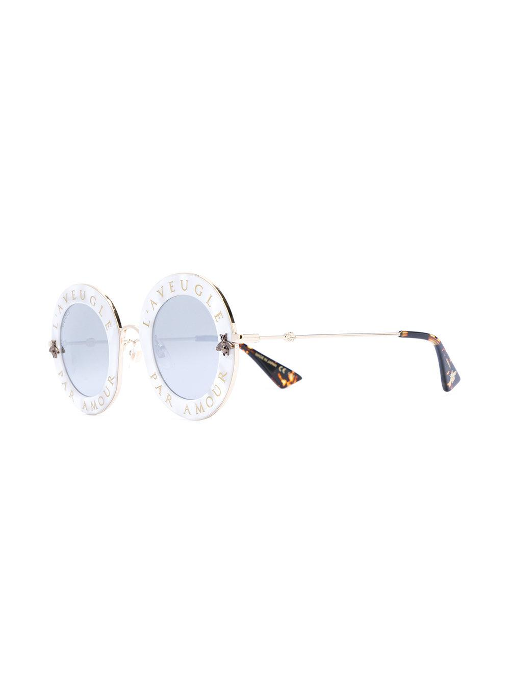 ab31f52b07a Gucci L aveugle Par Amour Sunglasses - Lyst