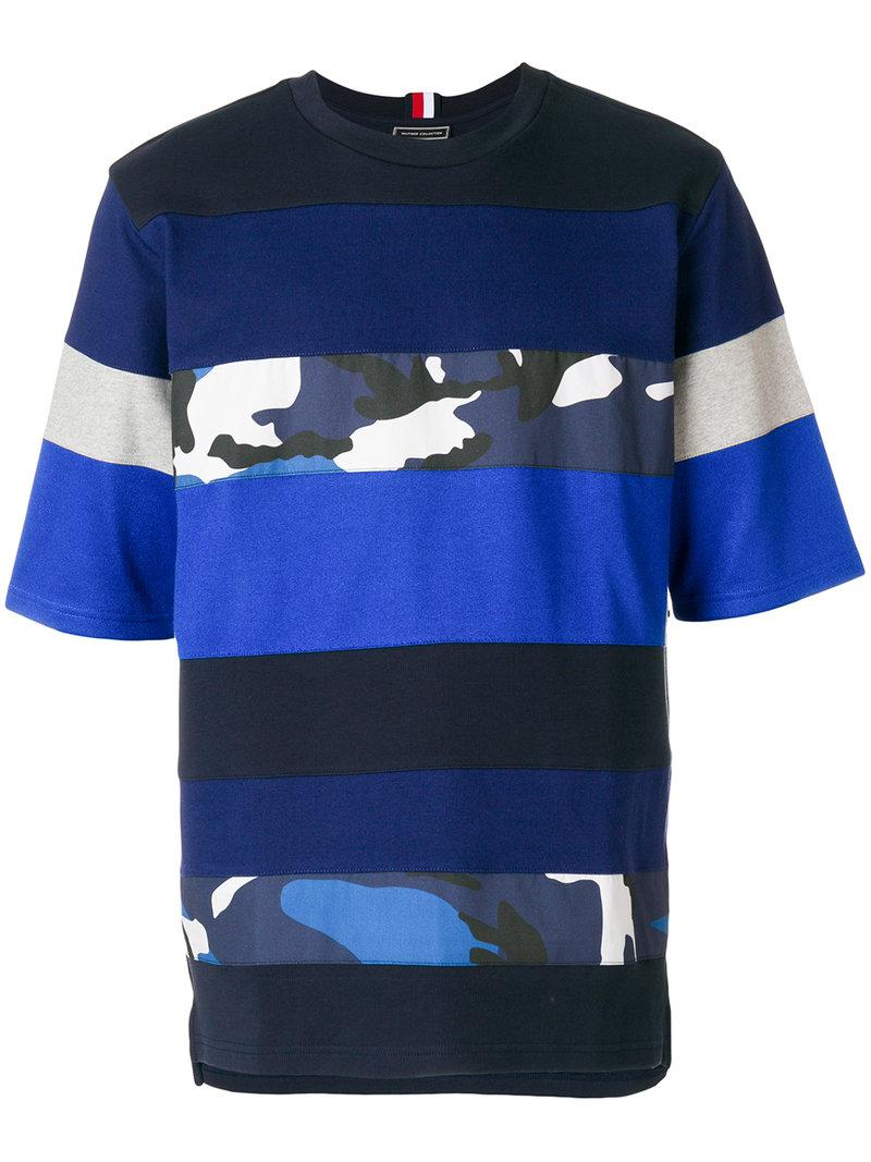 7b525ccb7 Lyst - Tommy Hilfiger Camo Panel T-shirt in Blue for Men
