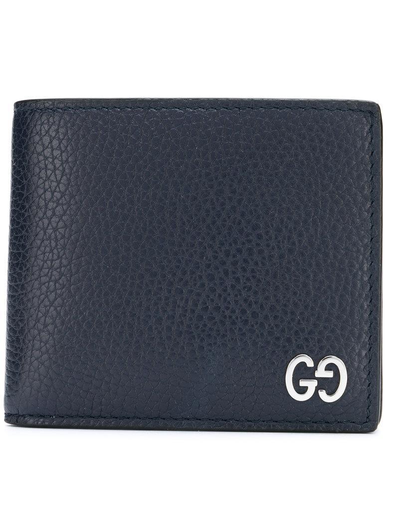 ac843534543 Gucci Billfold Wallet in Blue for Men - Lyst