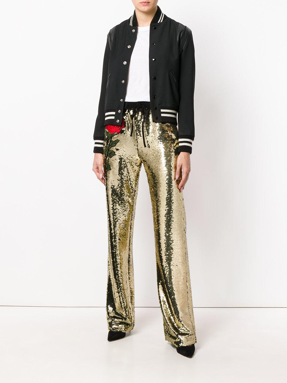 Scotty Orita palazzo pants - Metallic Philipp Plein Buy For Sale 100% Guaranteed Sale Online Affordable Cheap Price Outlet Popular AIukGb7x9